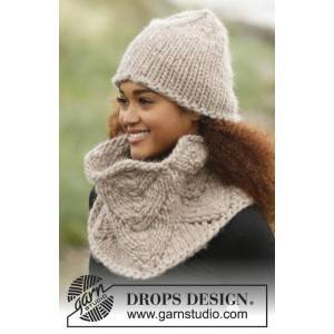 Drops - Garnstudio Cinnamon by DROPS Design - Lue og hals strikkeoppskrift str. S - XL