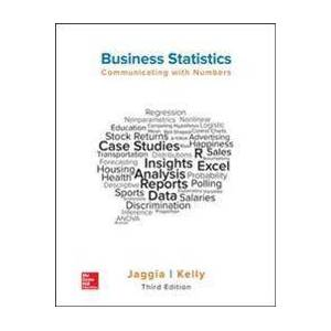 Jaggia, Sanjiv Business Statistics: Communicating with Numbers (1259957616)