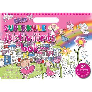 Min superkule aktivitetsbok. Rosa. 24 plakater + klistremerker