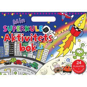 Min superkule aktivitetsbok. Blå. 24 plakater + klistremerker