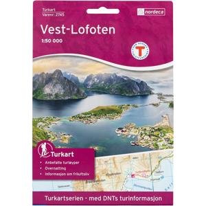 Nordeca Vest-lofoten 1:50 000,kart