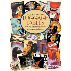 Old-fashioned Luggage Labels by Carol Belanger Grafton