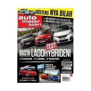 Tidningen Auto Motor & Sport 6 nummer