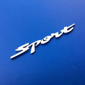 frenma Personligt bilemblemklistermärke 1 st 3D metall sport bil emblem bricka dekal bildekor sportbil klistermärken för Benz Mazda Toyota bilstyling (färg: Silver)