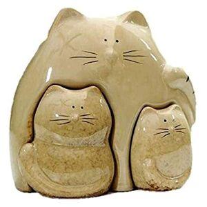 AUVPulc703BRgA3kTO Skrivbordsskulpturstaty Mor och baby kattdocka Skulptur Keramisk kattunge staty Miniatyrgåvor Hantverk Skrivbordsprydnader Heminredning Tillbehör Djurfigurer Nice gift