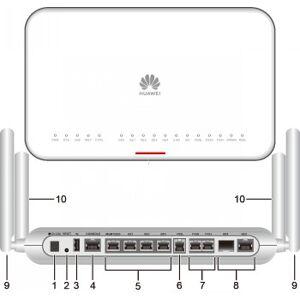 AR617VW-LTE4EA, 1*GE COMBO WAN, 4*GE LAN, 1*VDSL2, 2*FXS, 1*USB 2.0, 1*LTE, WI-FI 2.4G+5G