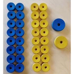 Bobbrikker t/ 2 spillere - blå og gul