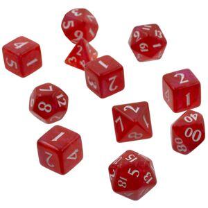 Apple RPG Dice Set Eclipse 11 Apple Red Terninger til rollespill - 11 stk