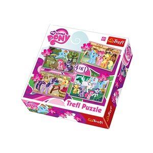 Trefl Puslespill 4 i 1 - My Little Pony Ponies Holiday