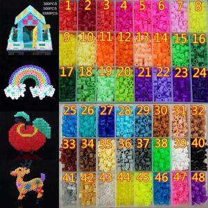 Hama 300/500/1000Pcs 5mm Hama/Perler Beads Plastic Toy Child Fun Craft DIY Handmaking Fuse Bead Kids Educational Toys Gift AN