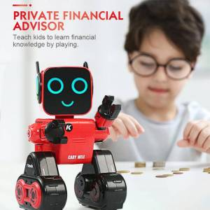 Programmable RC Robot Mini Smart Robot Remote Control Toys Touch Voice Control Sing Dance Built-in Coin Bank Kids Toy Gift