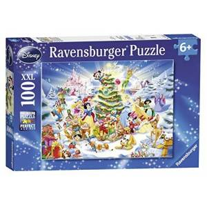 Puslespill Ravensburger 100 Disney Christmas