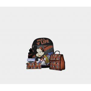 Disney Mickey Mouse 5-pc Mega Set Backpack Red