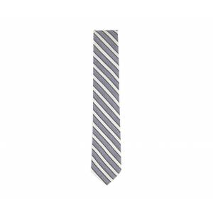 Calvin Mens Linen Diagonal Iced Stripe Neck Tie Blue/Cream/Black