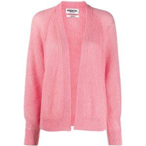 Essentiel Antwerp long sleeve cable knit cardigan - PINK M