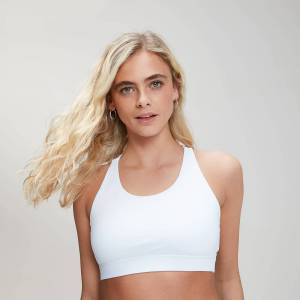 MP Women's Essentials Training Sports Bra - White - XS