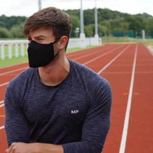 Myprotein Antibacterial Filtered Face Mask - Black