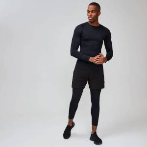 MP Men's Essentials Training 3/4 Leggings Baselayer - Black - M