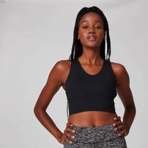 MP Women's Power Longline Sports Bra - Black - XL