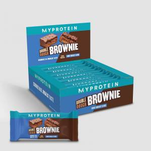 Myprotein Double Dough Brownie - 12 x 60g - Chunky Chocolate