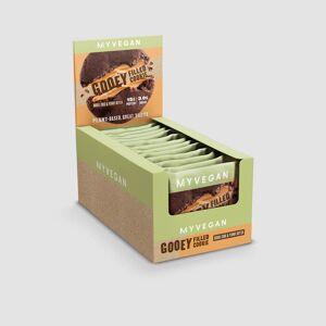 Myvegan Vegan Gooey Filled Cookie - 12 x 75g - Double Chocolate & Peanut Butter