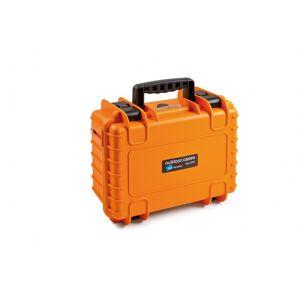 B&W Hartschalenkoffer Typ 3000 mit Würfelschaum, orange
