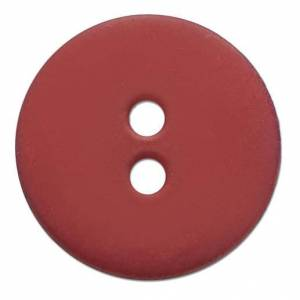 Knopf Rot, 15 mm, 1 Stück
