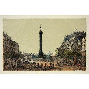 Posterazzi Tiefdruck Paris 1874 de La Colonne De Juillet Coll Poster drucken 24.00 x 18.00