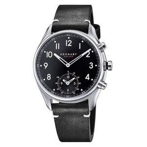 Kronaby S1399-1 Männer's Apex Smartwatch Schwarz Riemen Saphir/Edelstahl
