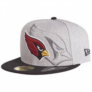 New Era 59Fifty Cap - SCREENING NFL Arizona Cardinals grau 7 7/8 - (62,5cm)
