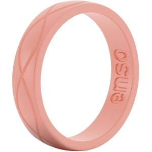 Enso Rings Enso Ringe Damen Infinity Serie Silikon-Ring - Flamingo