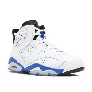 "Air Jordan 6 Retro ""Sport Blau"" - 384664-107-Schuhe 9.5 UK"