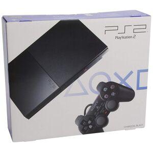Sony Playstation 2 Konsole Slim - Schwarz (Slim Model BLUE BOX - EU Stock)