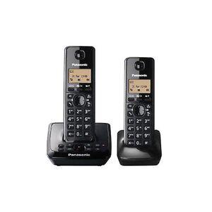 Panasonic KX-TG2722EB Twin DECT schnurloses Telefon mit Anrufbeantworter festlegen