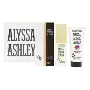 Alyssa Ashley Musk-Geschenk-Set 100ml EDT + 100ml parfümiertes Deodorant Spray
