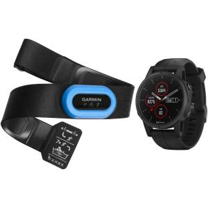 Garmin Fenix 5S Plus Sapphire Smartwatch Set - One Size Schwarz