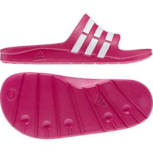 Adidas Duramo Slides Sandalen - UK 12 Youth Vivid Berry   Flipflops