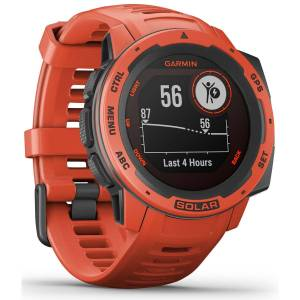 Garmin Instinct Solar GPS Uhr - One Size Flame Red   Sportuhren
