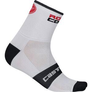 Castelli Rosso Corsa 9 Radsocken - 2XL Weiß/Schwarz   Socken