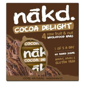 nakd. Riegel (4 x 35 g, Mehrstückpackung) - 4 Pack Cocoa Delight