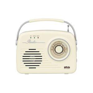 Silva Schneider Mono 1965 Kofferradio UKW AUX, USB wiederaufladbar Beige