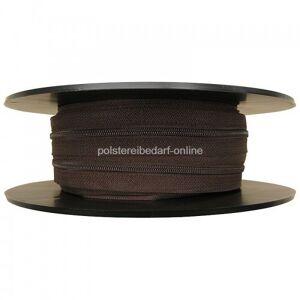 polstereibedarf-online 25 Meter Reißverschluss Braun