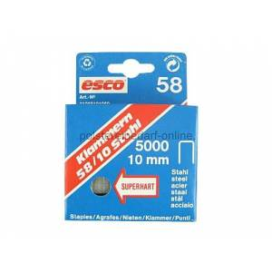 polstereibedarf-online Klammern Esco Länge 10mm Typ 58/10 5000 Stk. Superhart Stahl