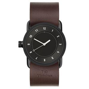 TID Watches-TID No.1 Schwarz Armbanduhr 33mm Walnut Leder