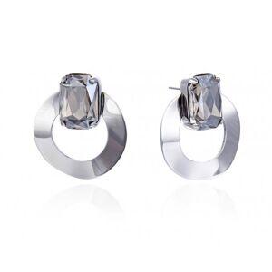 Bud To Rose-Celine Earrings, Grey/Steel