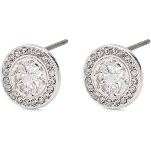 Pilgrim-Henrietta Earrings, Silver/Crystal
