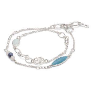 Pilgrim-Halley Armband, Silber/Blau