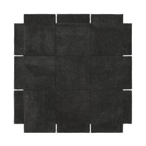 Design House Stockholm -Basket Carpet 180x180 cm, Dark Grey
