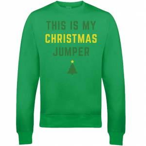 The Christmas Collection This Is My Christmas Jumper Christmas Sweatshirt - Grün - XL - Grün