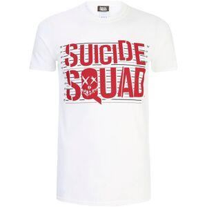 Geek Clothing Suicide Squad Herren Line Up Logo T-Shirt - Weiß - L - Weiß